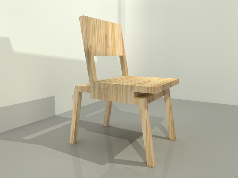 cadeira três peças vazada 01